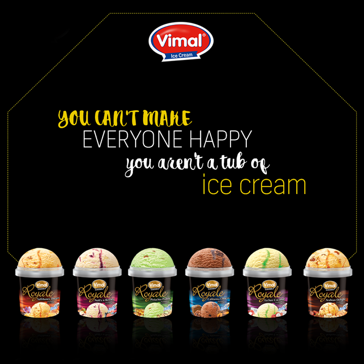 A tub of ice cream make everyone's happy.  #IcecreamQuote #POTD #IcecreamLovers #VimalIcecream #Ahmedabad