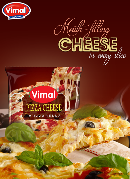 Nothing better than a cheesy pizza on your platter!  #Cheese #Pizza #CheesyPizza #PizzaLover #CheeseLovers #DairyProduct  #VimalIceCreams