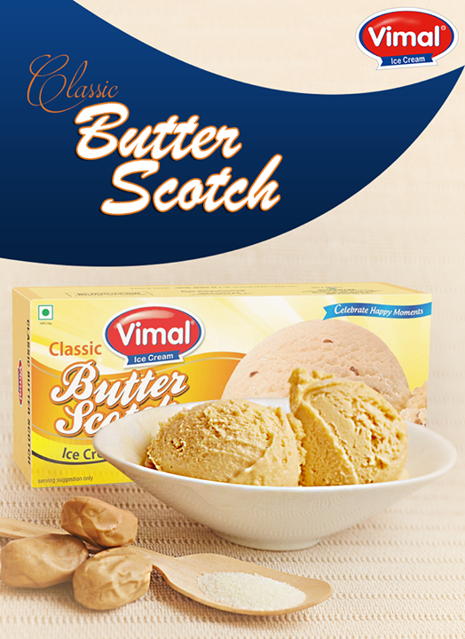 #Classics can never go out of style.  #ClassicIcecream #ButterScotchlover #VimalIceCreams #IceCreamLovers