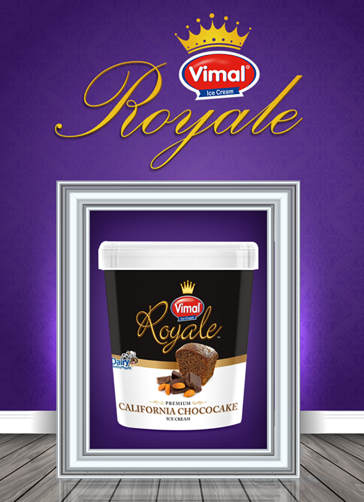 "Treat yourself to the ""ROYALE"" treat this weekend  #RoyaleIcecream #WeekendLover #Treat #YourSelf #VimalIceCreams #IceCreamLovers"