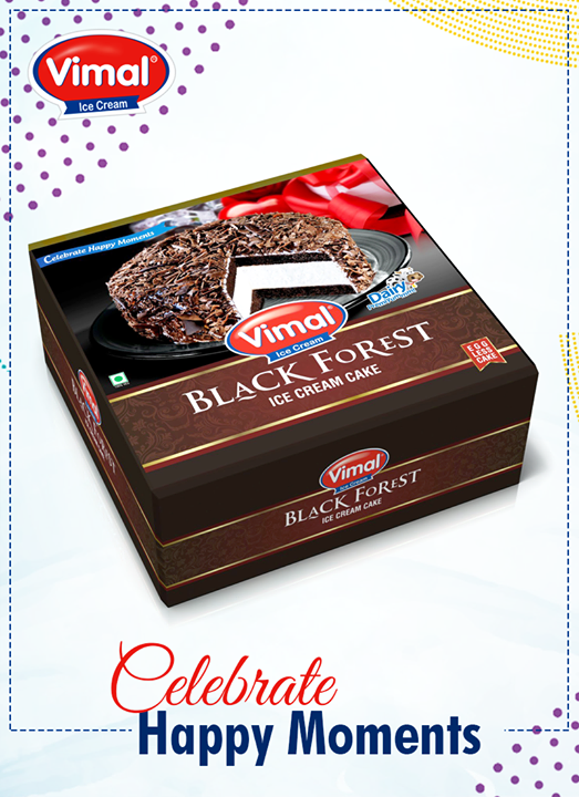 #BlackForest Ice Cream Cake is the perfect indulgence for your mini-party!   #IcecreamCake #Celebrations #IcecreamLovers #Vimal #ICecream #Ahmedabad