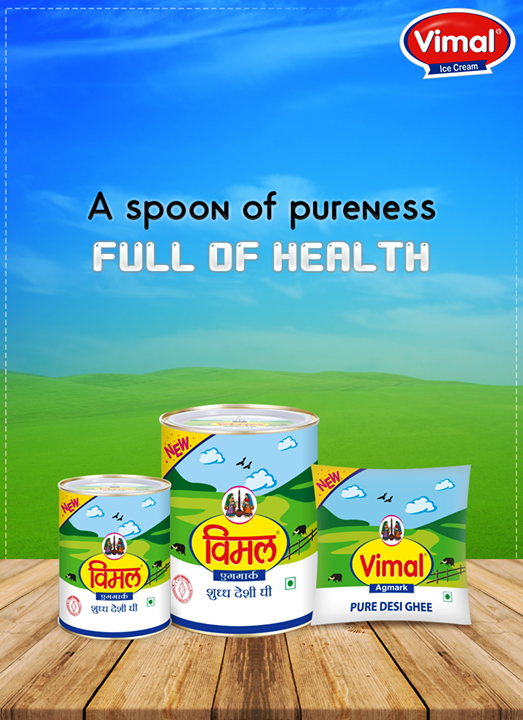 Pure #Ghee is the best source of #Nutrition for your body. Get #VimalGhee to add a touch of lavishness star to everything you cook!