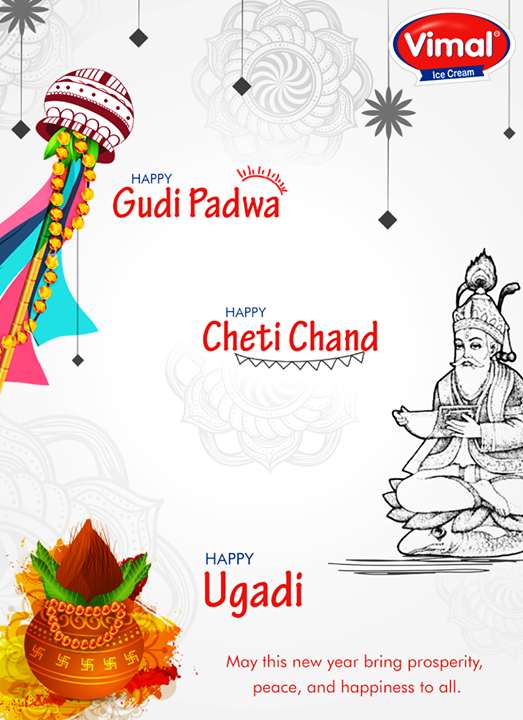 Festive wishes on #GudiPadwa, #Ugadi & #ChetiChand!  #VimalIcecream #IceCreamLovers #SummersAreHere #Icecream #Ahmedabad
