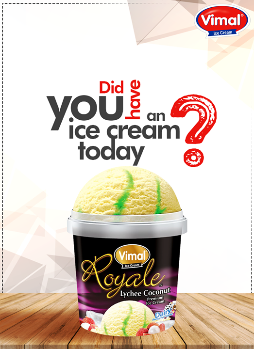 The good-old days of eating ice-cream are back! Did you have 1 today?  #VimalIceCreams #IceCreamLovers #SummerTime