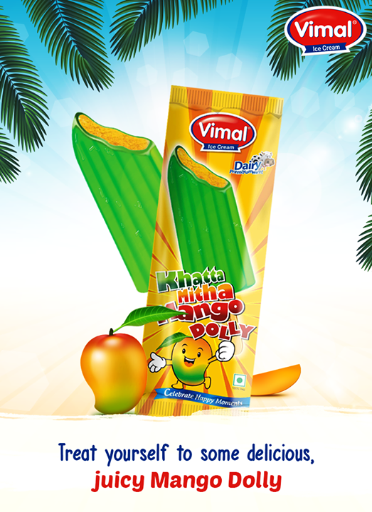 The flavour of your favourite Khatta Mitha Mango frozen up on a stick of absolute delight!   #MangoIceCream #MangoLovers #MangoFlavor #VimalIceCreams #IceCreamLovers #SummerTime