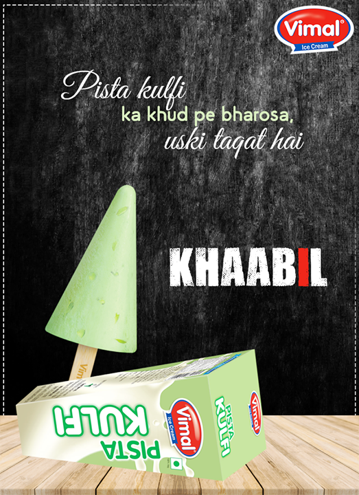 Have you tried our #PistaKulfi yet.  #VimalIceCreams #IceCreamLovers #SummerTime