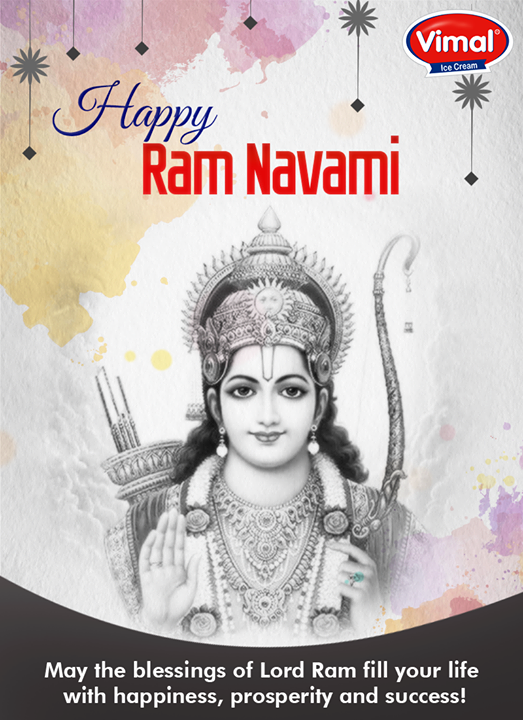 Let there be #happiness & #prosperity, happy #RamNavami!  #VimalIceCreams #IceCreamLovers