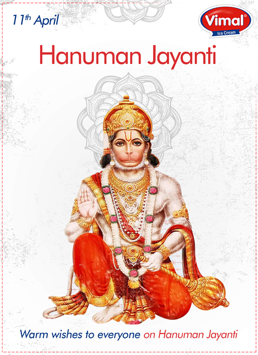 Warm wishes on #HanumanJayanti.  #Hanumanji #VimalIceCreams #SummerTime