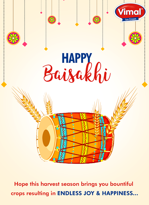 Warm wishes on #Baisakhi from Vimal Ice Cream!  #VimalIceCreams #SummerTime #IndianFestivals