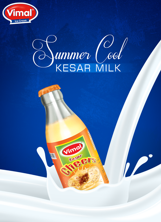 A perfect Summer Treat!  #KesarMilk #SummerDrinks #VimalProducts  #Vimal #ICecream #Ahmedabad