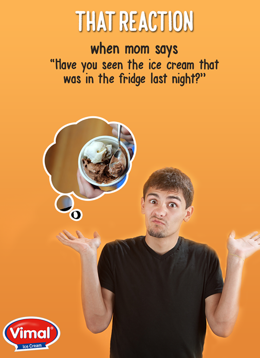 We can't hide our reactions in front of mom right?  #FridayFun #IceCreamLovers #Vimal #ICecream #Ahmedabad