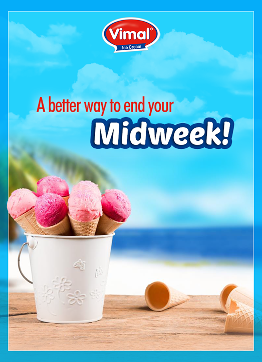 Need a better way to kick-end your midweek? <3 <3  #MidWeek #IcecreamLove #IceCreamLovers #Vimal #ICecream #Ahmedabad