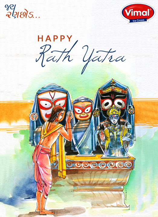 Warm wishes on the pious occasion!  #RathYatra #Rathyatra2017 #IndianFestivals #IceCreamLovers #Vimal #ICecream #Ahmedabad