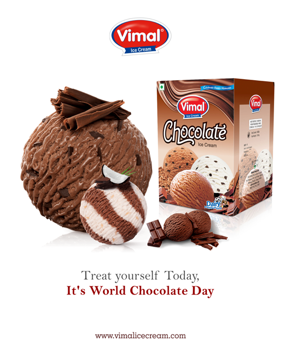 It's World Chocolate Day. Celebrate with a larger than life Chocolate Ice cream from Vimal Ice Cream!  #WorldChocolateDay #Chocolate #MonsoonTime #IceCreamLovers #Vimal #ICecream #Ahmedabad