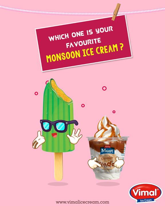 It's Monsoon, so Ice Creams are a must!  #MonsoonTime #IceCreamLovers #Vimal #ICecream #Ahmedabad