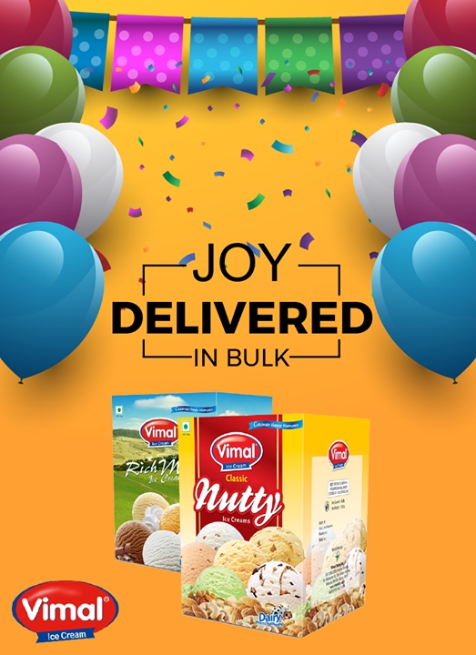 Party is incomplete without Vimal Ice Cream bulk packs!  #MonsoonTime #IceCreamLovers #Vimal #ICecream #Ahmedabad