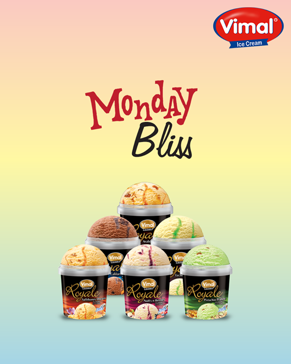 Turn your #MondayBlues into #MondayBliss with just a scoop of Vimal Ice Cream  #MonsoonTime #IceCreamLovers #Vimal #ICecream #Ahmedabad