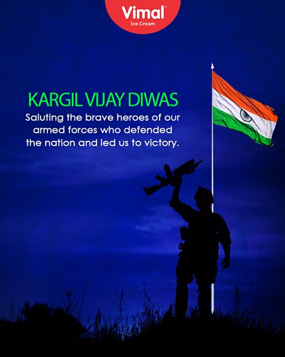 Saluting our brave heroes!  #KargilVijayDivas #VimalIceCream #ICecream #Ahmedabad