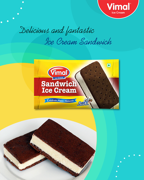 Satisfy your cravings with delicious, gourmet ice cream sandwiches.  #IceCreamLovers #IceCreamSandwiches #Vimal #IceCream #VimalIceCream #Ahmedabad