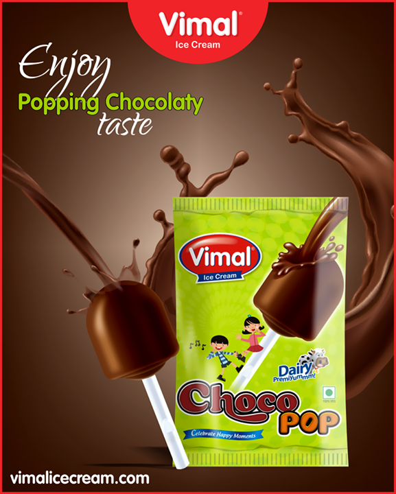 Go on a chocolaty ride with Vimal Ice Cream Choco pop.  #ChocoPop #IceCreamLovers #Vimal #IceCream #VimalIceCream #Ahmedabad