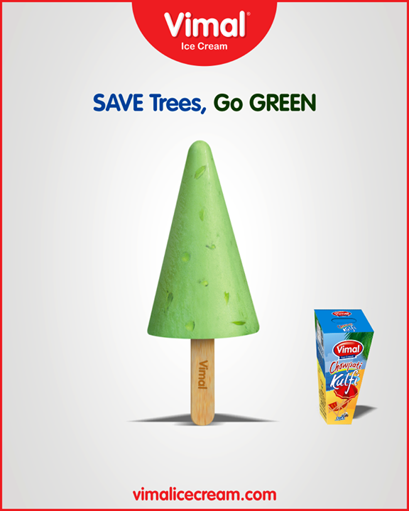 Let's make this earth a happy space with one ice-cream at a time!  #GoGreen #Vimal #IceCream #VimalIceCream #Ahmedabad