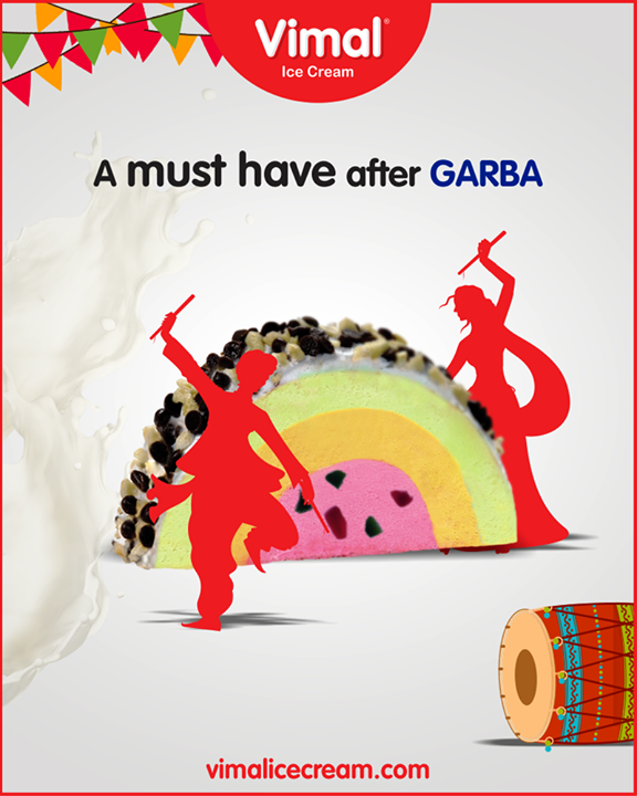 After grooving on garba tunes, it's time for classic Cassata By Vimal Ice Cream.   #JumboCup #Vimal #IceCream #VimalIceCream #Ahmedabad
