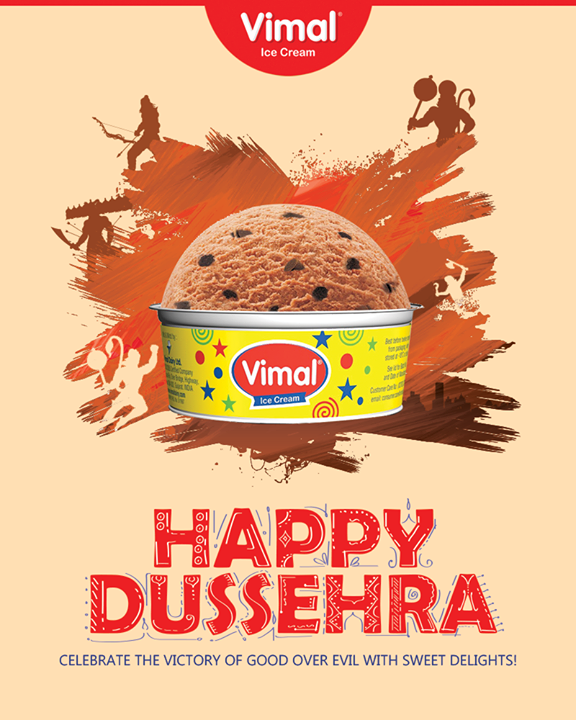 Celebrate the victory of good over evil with sweet delights!   #HappyDussehra #DussehraWishes #Dussehra #Dussehra2017 #Vimal #IceCream #VimalIceCream #Ahmedabad