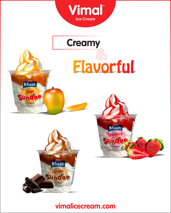 Pick your kind of Sundae by Vimal Ice Cream.  #Sundae #Vimal #IceCream #VimalIceCream #Ahmedabad