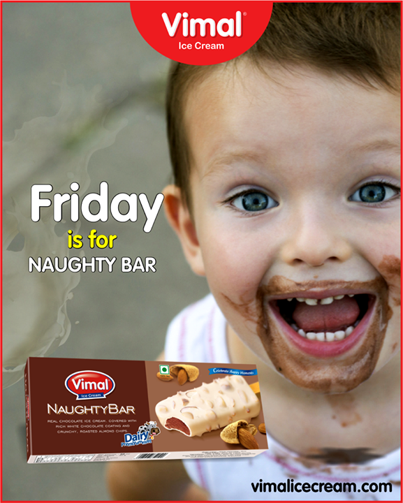 Let your taste buds go naughty with Naughty bar.  #NaughtyBar #IceCream #IceCreamLovers #Vimal #IceCream #VimalIceCream #Ahmedabad