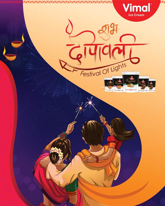 Here's wishing everyone a very Happy Diwali!  #HappyDiwali #Diwali #Diwali2017 #IndianFestivals #FestiveSeason #VimalIceCream #IceCreamLovers #Vimal #IceCream  #Ahmedabad