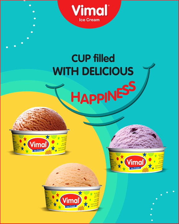 Vimal Ice Cream Cups to let you taste happiness whenever you need!  #IceCream #IceCreamLovers #Vimal #IceCream #VimalIceCream #Ahmedabad