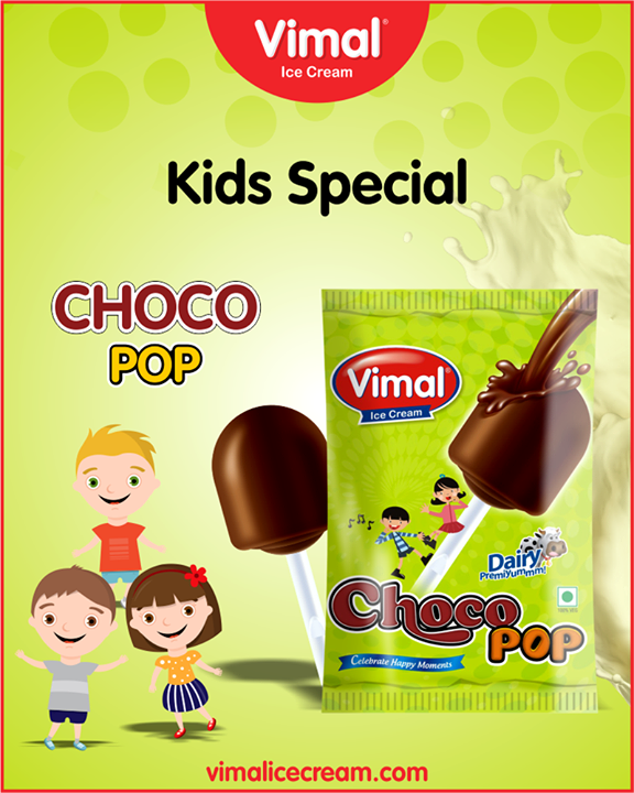Let the happiness pop on your child's face this #weekend with Choco Pop.  #ChocoPop #IceCreamLovers #Vimal #IceCream #VimalIceCream #Ahmedabad