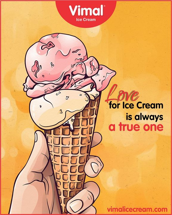 There's no ditching in the love affair with Ice Cream.   #IceCreamLovers #Vimal #IceCream #VimalIceCream #Ahmedabad