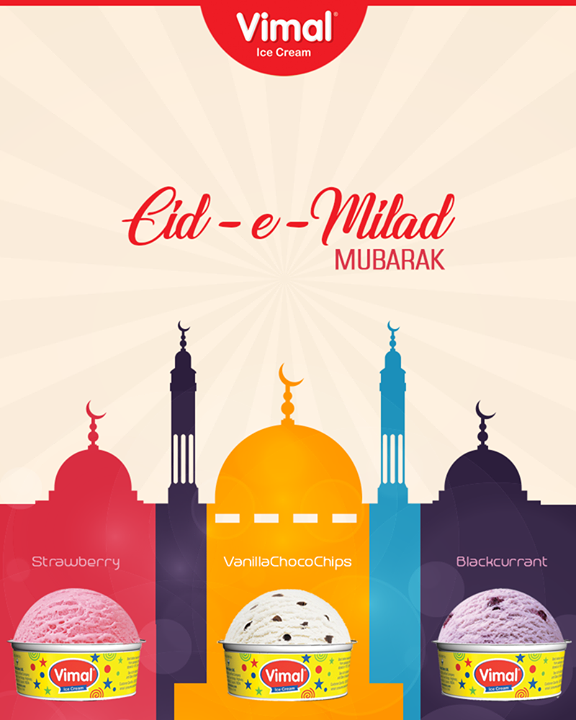 Wishing all a very Happy Eid-E-Milad!  #EIDMubarak #IceCreamLovers #Vimal #IceCream #VimalIceCream #Ahmedabad