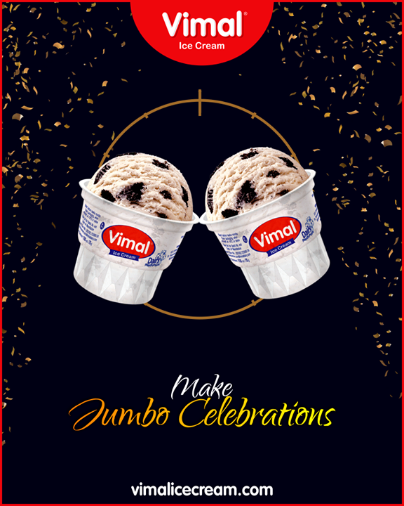 Make the new year party a jumbo celebration with Jumbo Cup.  #JumboCup #IceCreamLovers #Vimal #IceCream #VimalIceCream #Ahmedabad