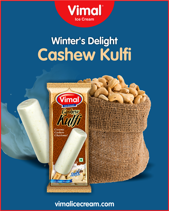 Make your winter's delighting, with Cashew Kulfi from Vimal Ice Cream.  #IceCreamLovers #Vimal #IceCream #VimalIceCream #Ahmedabad