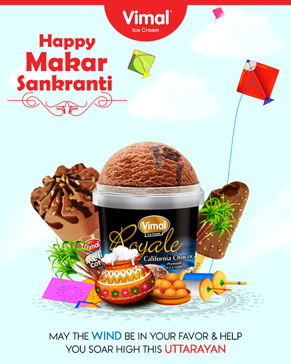 May the wind be in your favor & help you soar high this Uttarayan! ‬‬  #HappyUttarayan #Uttarayan2018 #HappyPongal #IndianFestivals #FestivalsOfIndia #IceCreamLovers #Vimal #IceCream #VimalIceCream #Ahmedabad