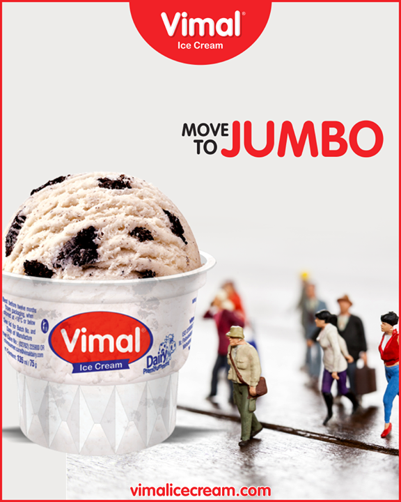 Let's have something jumbo this week,Jumbo Cup from Vimal Ice Cream will be an apt option! ;)  #IceCreamLovers #Vimal #IceCream #VimalIceCream #JumboCup #Ahmedabad