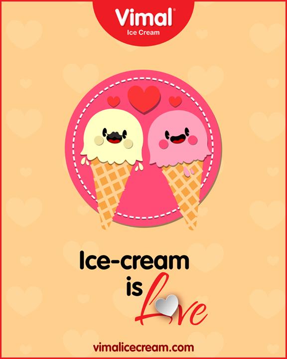 Ice-cream is love forever!  #LongWeekend #Weekend #IceCreamLovers #Vimal #IceCream #VimalIceCream #Ahmedabad
