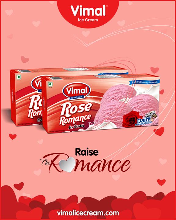 Definitely romantic & perfect to set up the mood for Valentines ;)   #IceCreamLovers #Vimal #IceCream #VimalIceCream #Ahmedabad