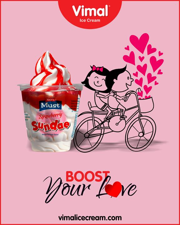 Sundae ice cream from Vimal Ice Cream to give boost to your love.  #Sundae #IceCreamLovers #Vimal #IceCream #VimalIceCream #Ahmedabad