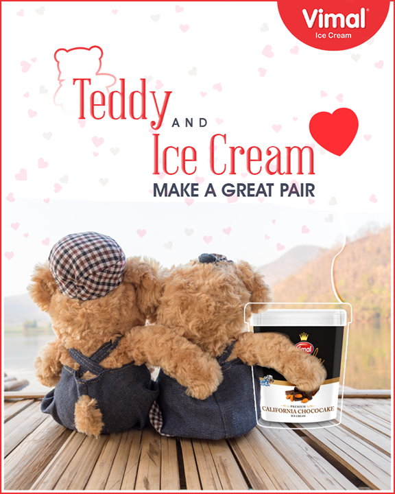 Celebrate teddy day with delicious Vimal Ice Cream.    #TeddyDay #ValentinesWeek #Royale #IceCreamLovers #Vimal #IceCream #VimalIceCream #Ahmedabad