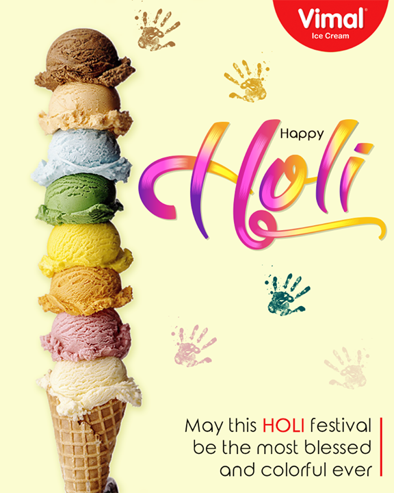 May this Holi festival be the most blessed and colorful ever.  #HappyHoli #Holihai #HoliFestival #IndianFestivals #Holi2018 #IceCreamLovers #Vimal #IceCream #VimalIceCream #Ahmedabad