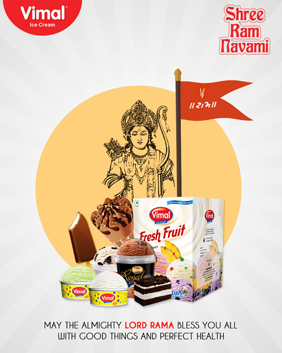 May you be blessed this festive occasion!   #RamNavami #Ramnavmi #IndianFestivals #JaiShreeRam #IceCreamLovers #Vimal #IceCream #VimalIceCream #Ahmedabad