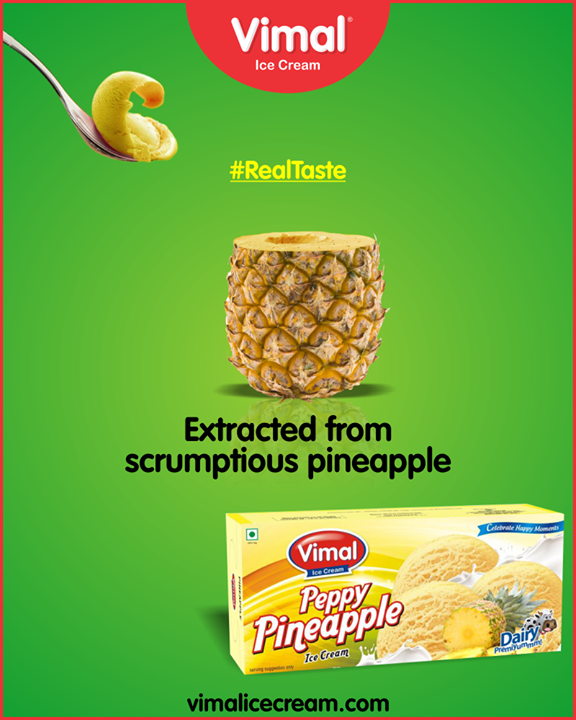 Enjoy the #RealTaste of pineapple in family pack from Vimal Ice Cream.  #IceCreamLovers #Vimal #IceCream #VimalIceCream #Ahmedabad