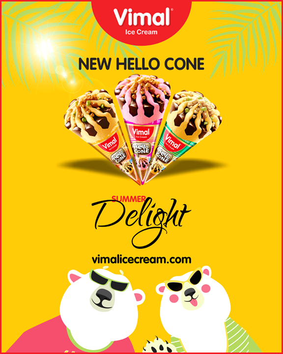 Make summer more enjoyable with new hello cones from Vimal Ice Cream  #HelloCone #IceCreamLovers #Vimal #IceCream #VimalIceCream #Ahmedabad