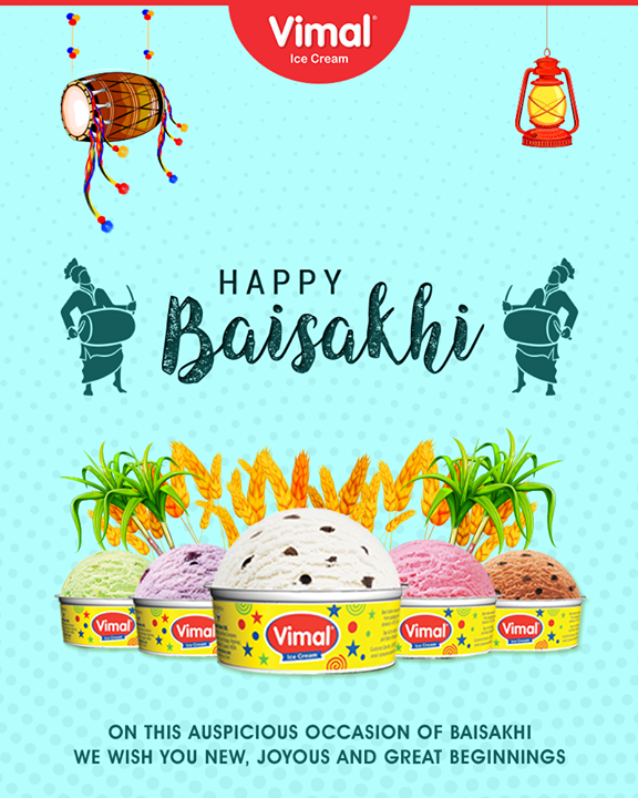 Wishing you joyous beginnings!  #IceCreamLovers #Vimal #IceCream #VimalIceCream #Ahmedabad #Baisakhi #HappyBaisakhi