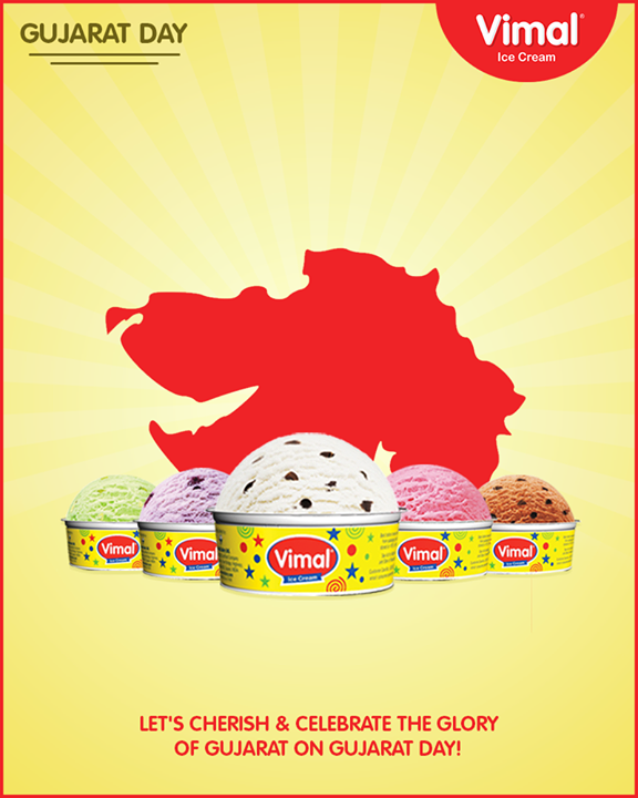 Let's cherish & celebrate the glory of Gujarat on Gujarat Day!  #GujaratDay #JayJayGarviGujarat #Gujarat #Vimal #IceCream #VimalIceCream #Ahmedabad
