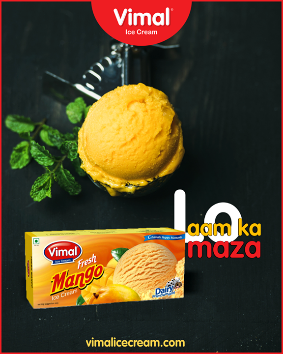 Fresh & delicious!  #FreshMango #SummerTime #IcecreamTime #MeltSummer #IceCreamLovers #FrostyLips #Vimal #IceCream #VimalIceCream #Ahmedabad
