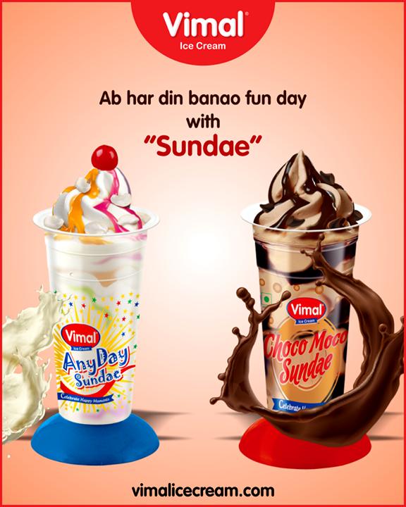 Sundae is not just for Sundays.  #Sundae #SummerTime #IcecreamTime #MeltSummer #IceCreamLovers #FrostyLips #Vimal #IceCream #VimalIceCream #Ahmedabad